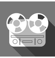Flat long shadow reel tape recorder vector image vector image