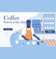 flat modern design coffee vector image