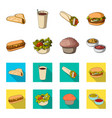 food rest refreshments and other web icon in vector image