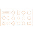 gold segments frames set on vector image vector image
