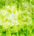 green triangle background vector image vector image