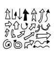 hand drawn arrow vector image vector image