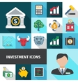 Investment Long Shadows Icon Set vector image