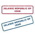 Islamic Republic Of Iran Rubber Stamps vector image vector image