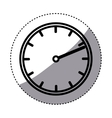 Isolated clock design vector image