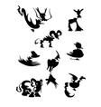 Lines of animals cartoon vector image vector image
