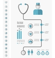 Medical Infographic Template vector image vector image