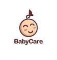 minimalist happy child kid logo vector image