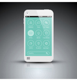 Modern mobile phone with flat user interface vector image vector image
