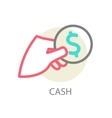 Money on hand vector image