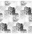 monochrome pattern with grunge gray squares vector image vector image