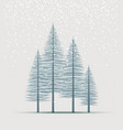 natural background with silhouette a trees vector image