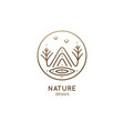 Nature linear logo