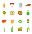 Octoberfest icons set cartoon style vector image