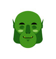 ogre sleeping emoji goblin asleep emotion vector image vector image
