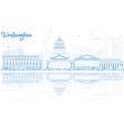 Outline Washington DC Skyline vector image vector image