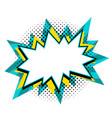 pop art speech bubble template for your design vector image vector image