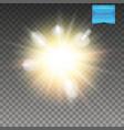 realistic transparent explosive light effect vector image vector image