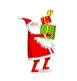 Santa Claus with gift boxes vector image