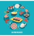 Sea food delicacies vector image