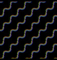 seamless glitch pattern color on black vector image