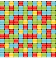 Seamless pattern with colorful buttons vector image