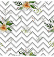 seamless pattern with image tiger lily flowers on vector image