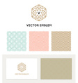 set of graphic design elements vector image