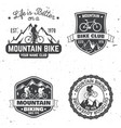 Set of mountain biking clubs