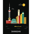 Shanghai China vector image