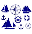 Ship Nautical decoration vector image vector image