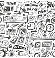 Sleep time - seamless backgound vector image vector image