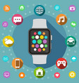 smart watch flat design concept vector image vector image