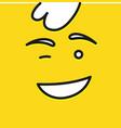 smile icon template design smile emoticon vector image