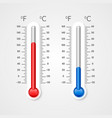 thermometer cold and heat vector image