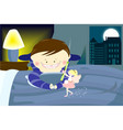 tooty fairy with a boy vector image