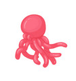 twisted glossy balloon in shape octopus vector image vector image