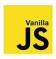 vanilla javascript language vector image vector image