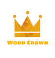 wooden texture crown vector image vector image