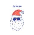 cute santa clause in sunglasses vector image