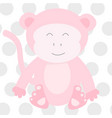 pink monkey vector image