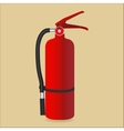 Fire extinguisher isolated on color background vector image