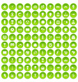 100 south america icons set green circle vector image vector image