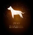 2018 year dog calendar vector image vector image