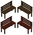 3d design for wooden chairs vector image vector image