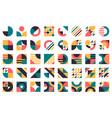 abstract bauhaus shapes modern circles triangles vector image vector image