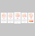 advertising metrics onboarding mobile app page vector image vector image