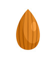 almond nut icon flat style vector image vector image