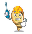 automotive sea shell mascot cartoon vector image