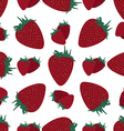 Background red strawberry vector image